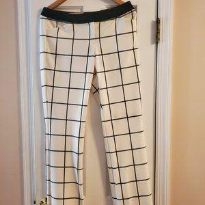 Express Black and White Window Pane Pants - NWT